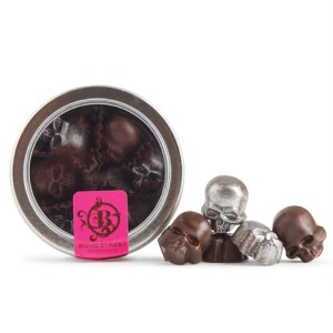 Dark chocolate skulls from Dean & Deluca.