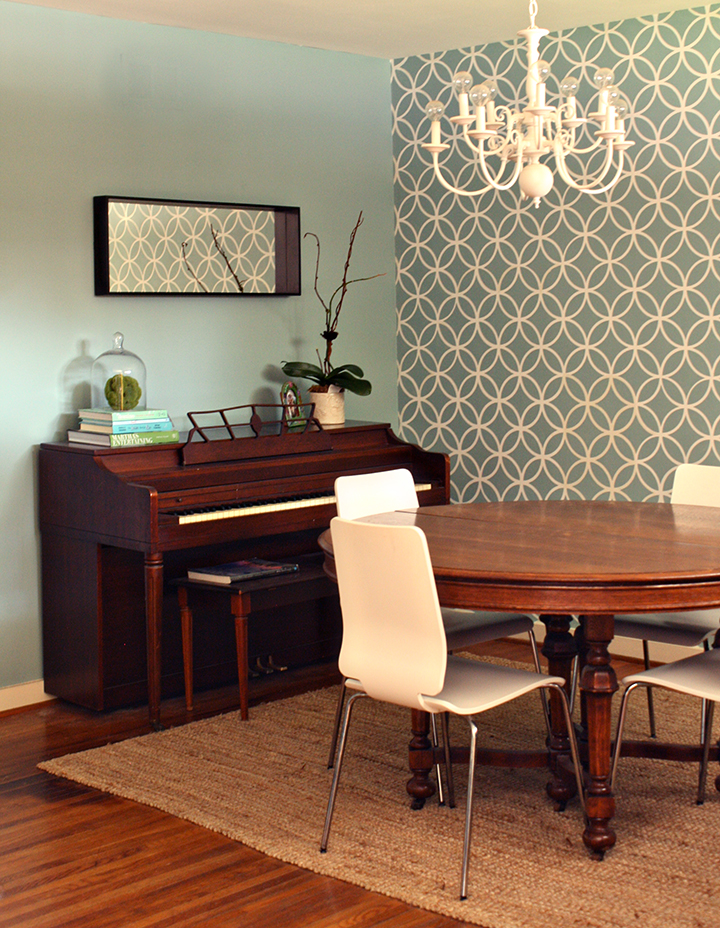 Piano  Our dining room  decorating   rosemary on the tv. Piano Dining Room Table. Home Design Ideas