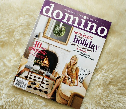 review of the new domino magazine | Rosemary on the TV