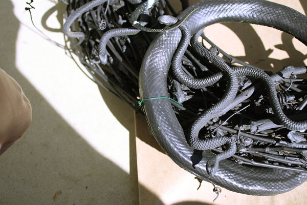 DIY Halloween Snake Wreath   Rosemary on the TV #diy #crafts #holiday #halloween