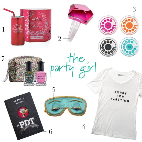 The Party Girl Gift Guide | Rosemary on the TV