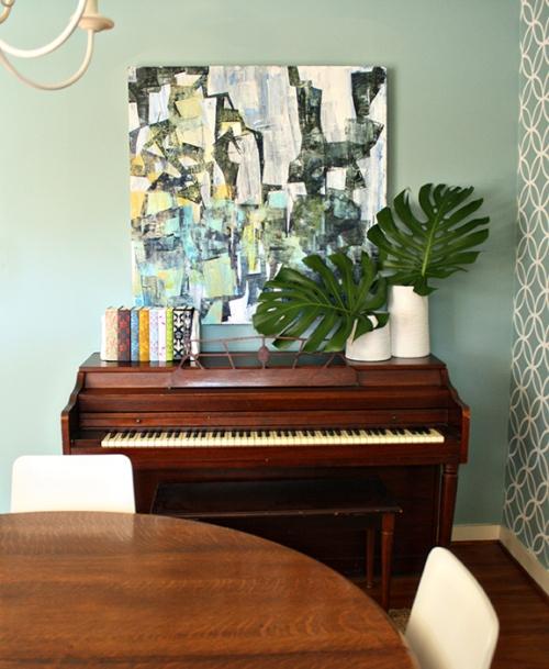 Evan Hallmark Art | Rosemary on the TV #art #abstract #piano