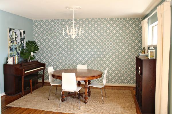 Evan Hallmark Art | Rosemary on the TV #art #diningroom #abstract #stencil