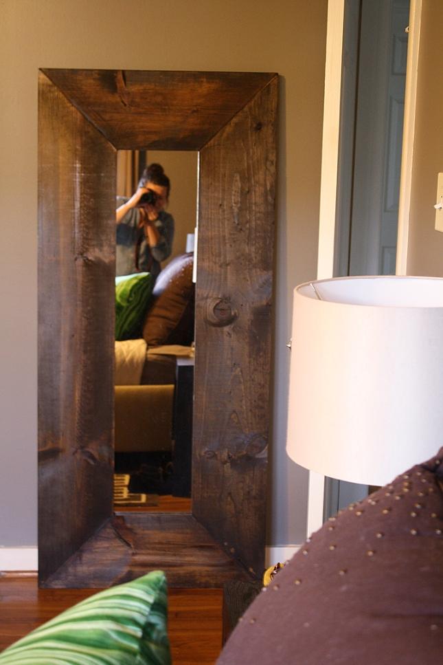 $50 DIY Floor Mirror | Rosemary on the TV