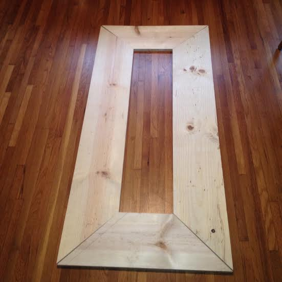 $50 DIY Floor Mirror | Rosemary on the TV
